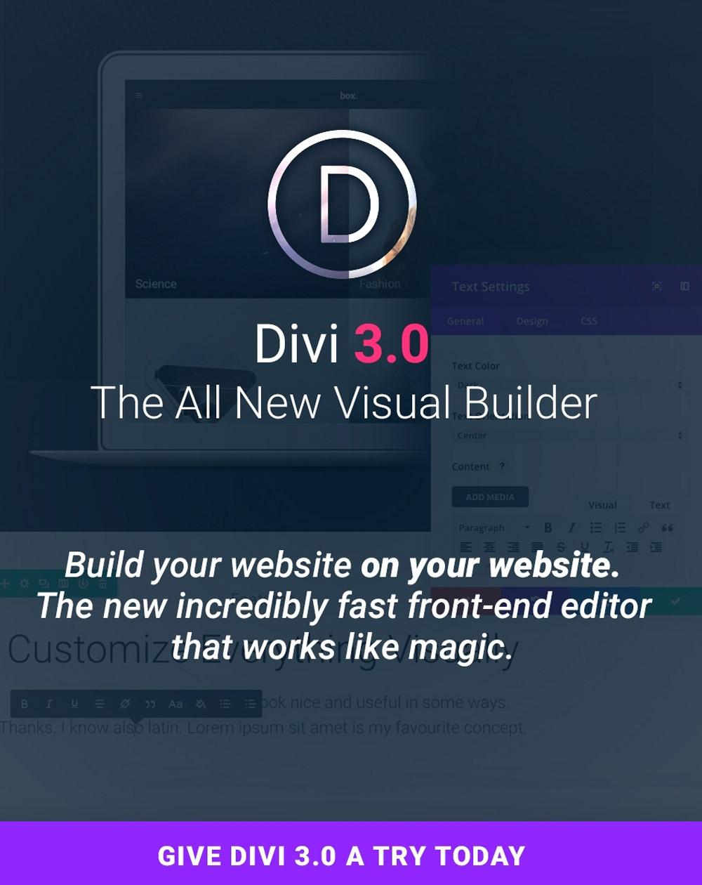 Divi theme learn how to create a website ferdy korpershoek - Divi elegant theme ...