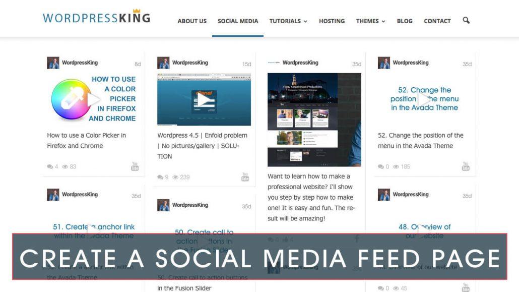 Social Media Feed Page