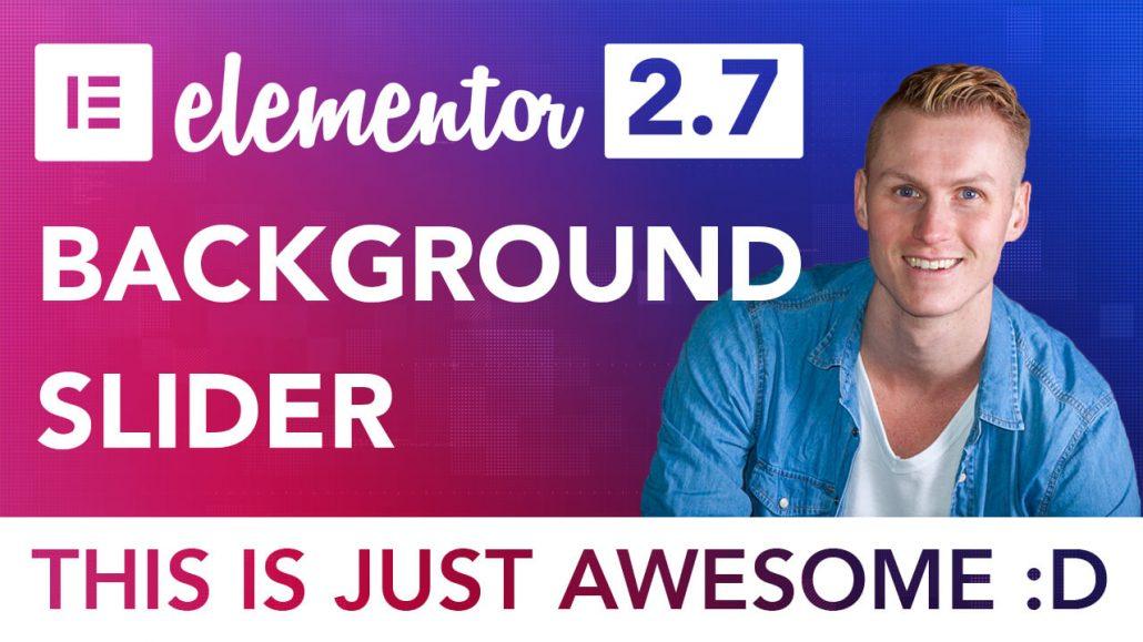 Elementor Background Slider