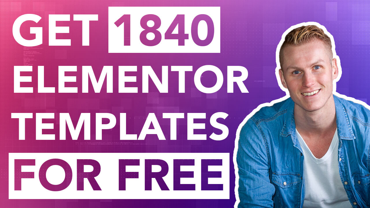 Get 1840 Elementor Templates For Free | Ferdy Korpershoek