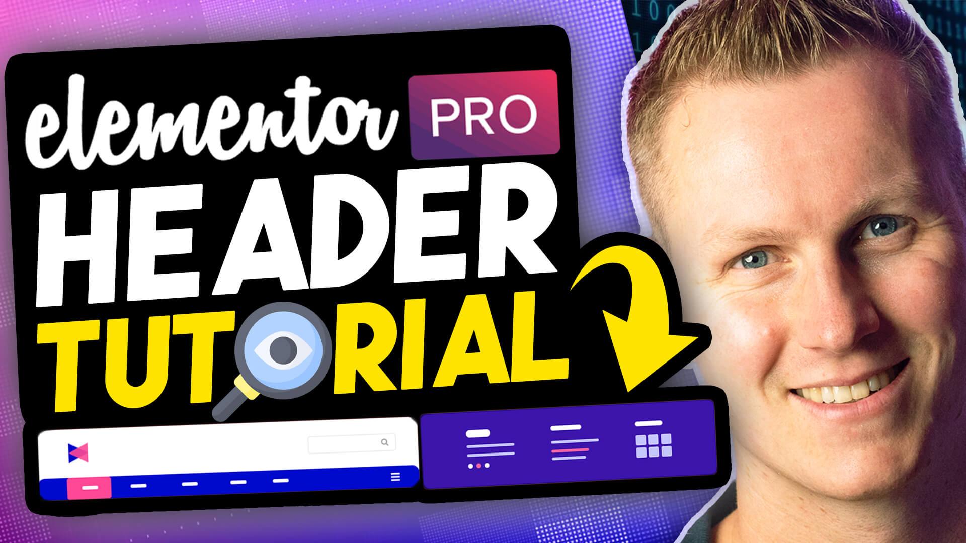 Elementor Pro Header Tutorial