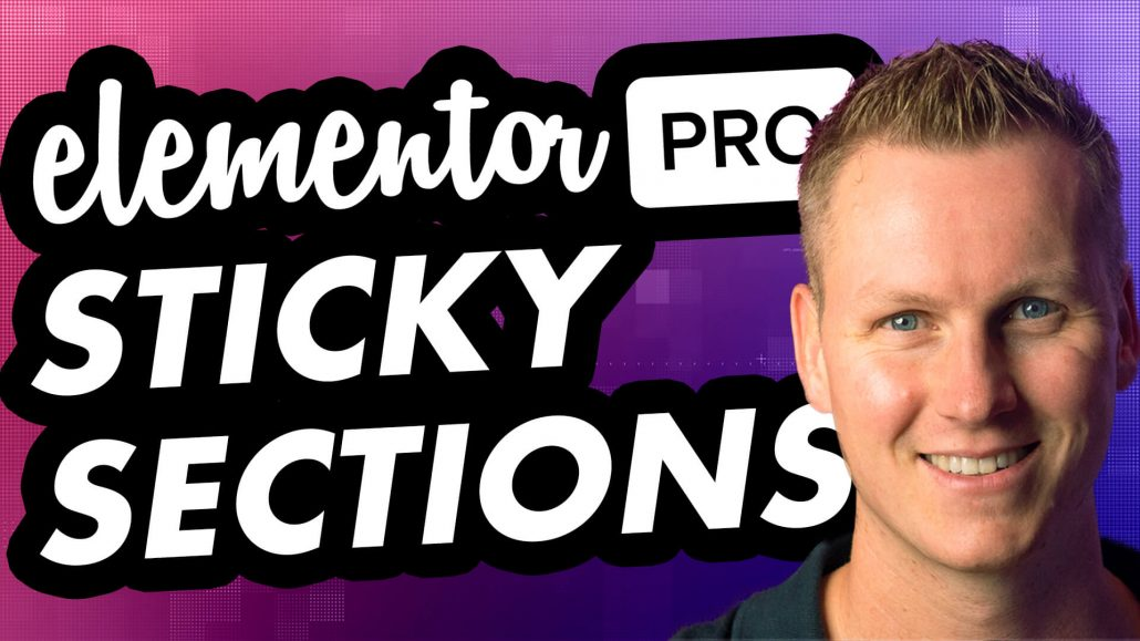 Elementor Sticky Sections